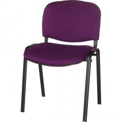 CHAISE 4 PIEDS ASSISE ET DOSSIER TISSU VIOLET EMPILABLE