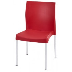 CHAISE POLYPRO ROUGE EMPILABLE