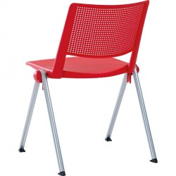 CHAISE ASSISE ET DOSSIER POLYPRO ROUGE
