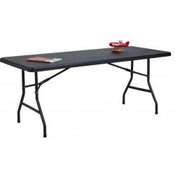 TABLE PLIANTE PVC 183x77 CM RESISTANT UV HUMIDITE ET CHOC NOIRE