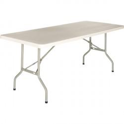 TABLE PLIANTE PVC 153x76 CM RESISTANT UV HUMIDITE ET CHOC GRIS