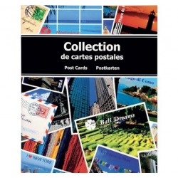 ALBUM COLLECTION DE CARTES POSTALES 20 x 25.5 CM