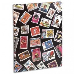 ALBUM COLLECTION DE TIMBRES 30.5 x 22.5 CM