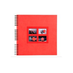 ALBUM PHOTOS SPIRALES PASSION ROUGE 32 x 32 CM