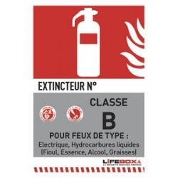 PANNEAU DE SIGNALISATION CLASSE FEU B PRESENCE EXTINCTEUR CO2