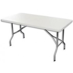 TABLE RECTANGULAIRE POLYETHYLENE PLIABLE L152XH74XP76CM