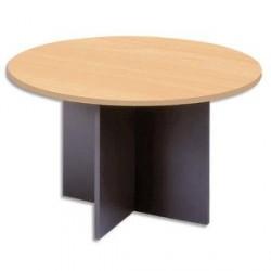 TABLE RONDE PIETEMENT PANNEAUX CROIX SYRACUSE Ø120XH76CM