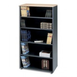 BIBLIOTHEQUE HAUTE 5 CASES SYRACUSE L91XH182XP43CM
