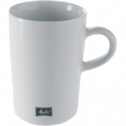 LOT DE 6 MUGS BLANCS EN PORCELAINE 35CL