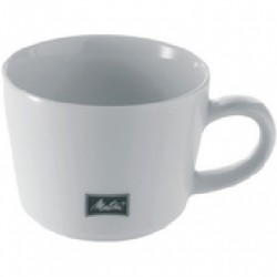 LOT DE 6 TASSES À CAFÉ BLANCHES EN PORCELAINE 20CL