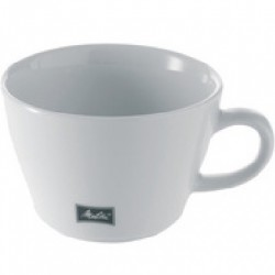 LOT DE 6 TASSES CAPPUCCINO BLANCHES EN PORCELAINE 25CL