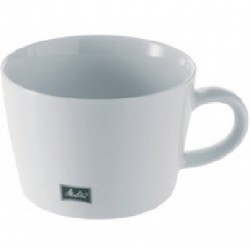 LOT DE 6 TASSES À CAFÉ AU LAIT BLANCHES EN PORCELAINE 45CL