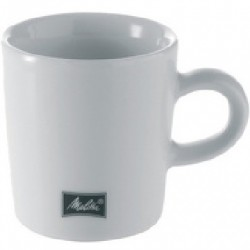 LOT DE 6 TASSES ESPRESSO BLANCHES EN PORCELAINE 80ML