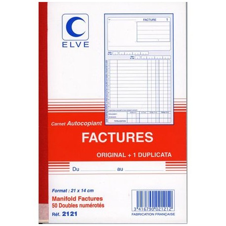 CARNET FACTURE 14,8X21 502 NCR