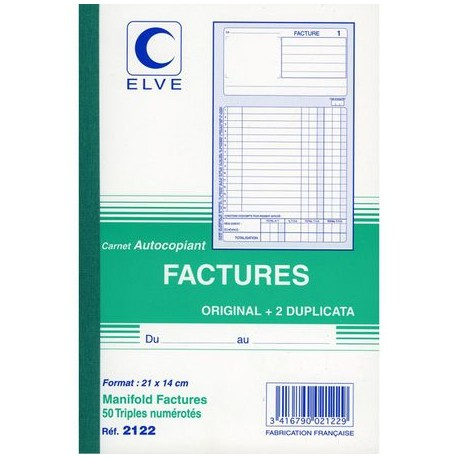 CARNET FACTURE 14,8X21 503 NCR