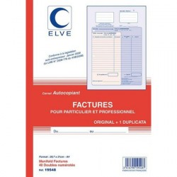 CARNET FACTURE 21X29,7 502 NCR