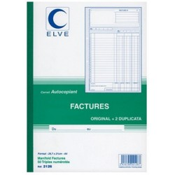 CARNET FACTURE21X29,7 503 NCR