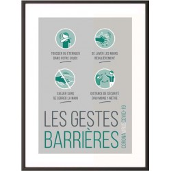 CADRE COVID-19 -GESTES BARRIERE- A4