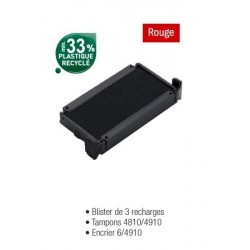 RECHARGE ENCRIER 64910N ROUGE BLISTER 3