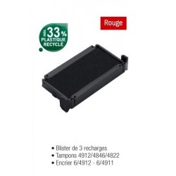 RECHARGE ENCRIER 64912 ROUGE BLISTER 3