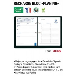 RECHARGE BLOC PLANNING