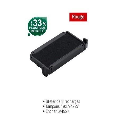 RECHARGE ENCRIER 64927 ROUGE BLISTER DE 3