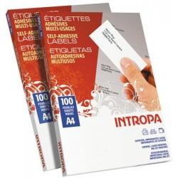 ÉTIQUETTES COP/LA/JE 31X70 BLEU BTx2700  SUR FEUILLE A4 - 101431
