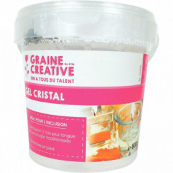 POT DE 800G GEL CRISTAL BOUGIE + 8 MECHES
