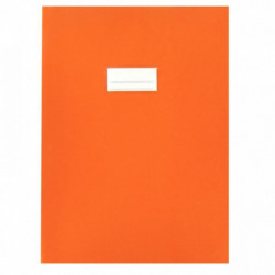 PROTÈGES-CAHIER *LOT DE 10* 21/100ÈME 21X29,7CM PVC ORANGE