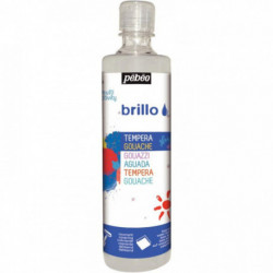 GOUACHE BRILLANTE BRILLO 500ML ARGENT