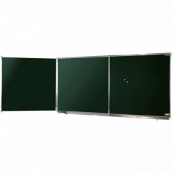 TRIPTYQUE NF EMAILLE VERT 120x400CM OUVERT POLYVISI