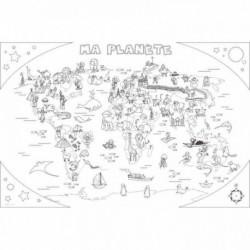 COLORIAGE GÉANT L'ATLAS 80X120