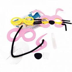 Kit de 24 lunettes 6 personnages (lapin, éléphant, tigre, poisson, coccinelle,