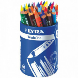 CRAYONS DE COULEUR LYRA TRIPLE ONE POT DE 36