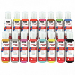 CARTON DE 16 FLACONS 150ML DE GOUACHE PRIMACOLOR COULEURS ASSORTIES