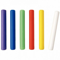 LOT 6 BÂTONS RELAIX PVC 30CM COULEURS ASSORTIES