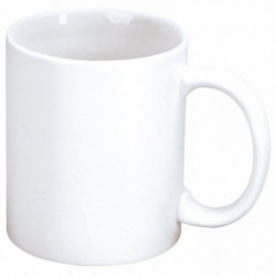 LOT 6 MUGS PORCELAINE BLANCHE