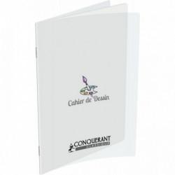 CAHIER DE DESSIN 96 PAGES 24X32 CM UNI 120G COUVERTURE EN POLYPROPYLÈNE INCOLORE