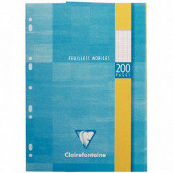 ETUI 100 FEUILLETS MOBILES, 200 PAGES, 21X29,7 CM, SEYES, BLANC