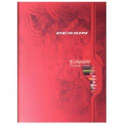 CAHIER DE DESSIN 32 PAGES FORMAT 17X22 CM PAPIER BLANC UNI 90G