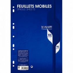 FEUILLETS MOBILES *PQT50*(100 PAGES) FORMAT 21X29,7CM SÉYÈS 90G BLANC