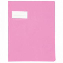 PAQUET DE 10 PROTÈGES-CAHIER ÉPAISSEUR 21/100ÈME 17X22 CM PVC ROSE