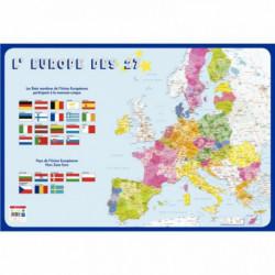 POSTER PVC 76X52 L'EUROPE DES 27