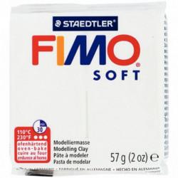 BLOC DE PÂTE À MODELER FIMO SOFT 57 GRAMMES BLANC