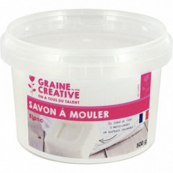 POT DE 500 GRAMMES DE SAVON À MOULER OPAQUE