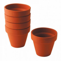 LOT 5 POT TERRE CUITE DIA9CM