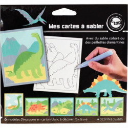 LOT 12 CARTE SABLE ANIMAUX