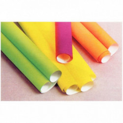 AFFICHE FLUO 90G 60X80CM PQT DE 10F. ASSORTIES : ORANGE, ROSE, JAUNE, VERT, ROUG
