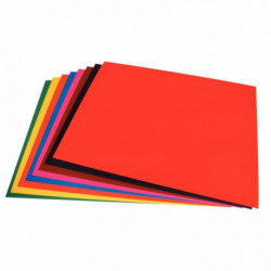 PAQUET 25 FEUILLES CARTA 210G 50X70 CM COULEURS ASSORTIES
