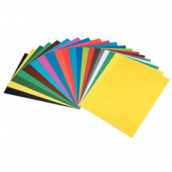 PAQUET DE 10 FEUILLES DE CARTA 50X65 CM 270G ORANGE